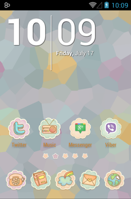 android theme 'Sonyeo of the sky'
