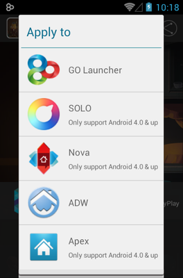 Carbinet android theme launcher menu