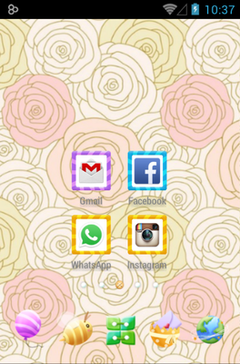 android theme 'Cute Garden'