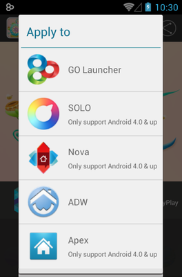 Cute Garden android theme launcher menu