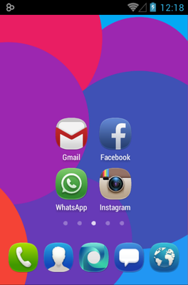 MeeUi HD android theme home screen