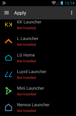 MeeUi HD android theme launcher menu