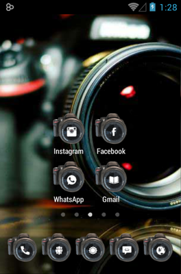 Camera android theme home screen