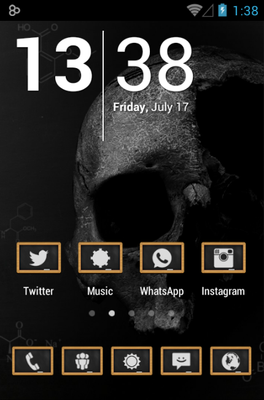android theme 'Chalk Board UI'