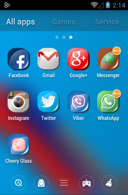 Cherry G android theme application menu