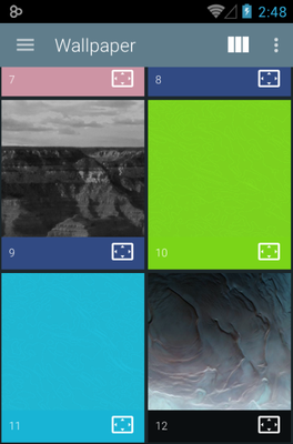 Minoir android theme wallpaper