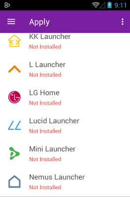 Whicons android theme launcher menu