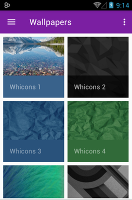 Whicons android theme wallpaper