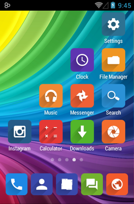 Elta android theme home screen