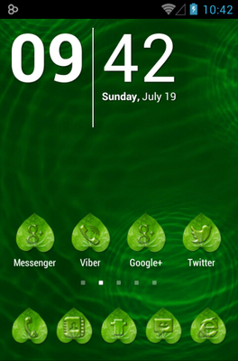 android theme 'Dew Waterdrop'