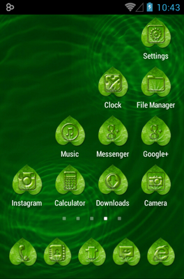 Dew Waterdrop android theme home screen