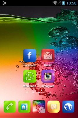Blur Color android theme home screen