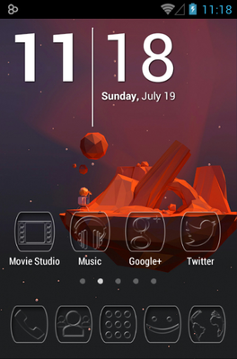 android theme 'Ghost'