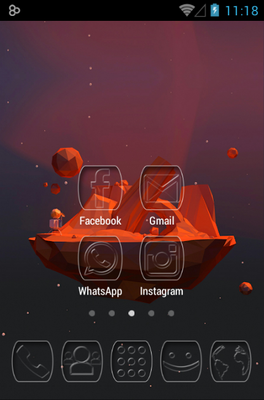 Ghost android theme home screen