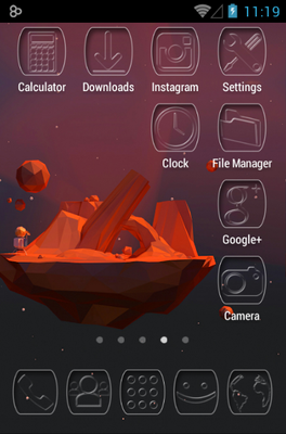 Ghost android theme application menu