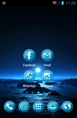 ICEE android theme home screen