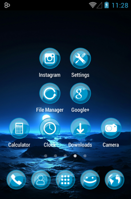 ICEE android theme application menu