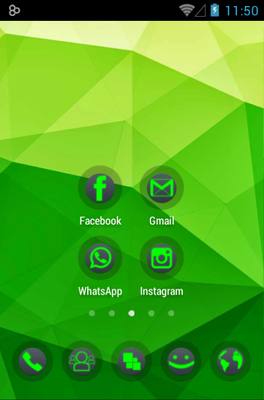 Power android theme home screen