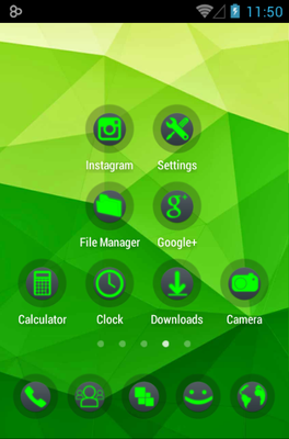 Power android theme application menu