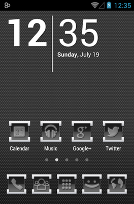 android theme 'Engrave'