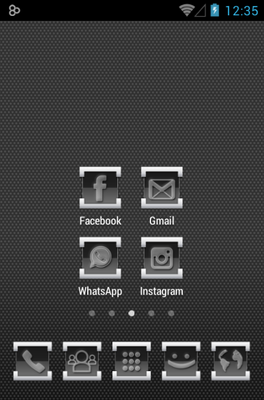 Engrave android theme home screen