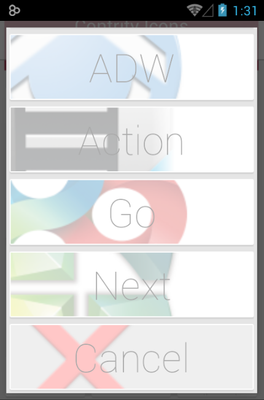 CONTRITY android theme launcher menu