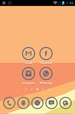 GRAY CIRCLE android theme home screen
