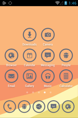 GRAY CIRCLE android theme application menu