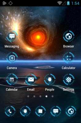 Neon Glow Micro android theme application menu