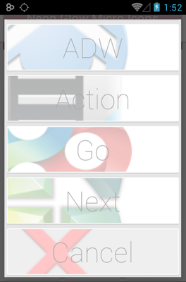 Neon Glow Micro android theme launcher menu