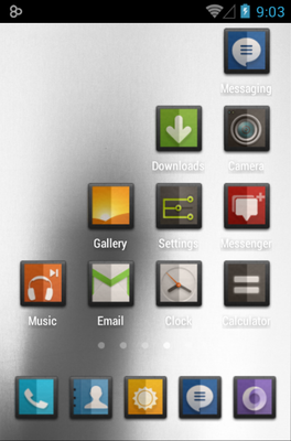 DIMIDIUM android theme application menu