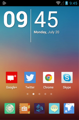 android theme 'Mix Flat'