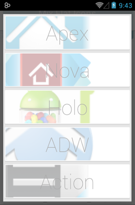Mix Flat android theme launcher menu