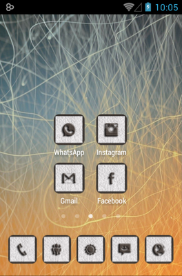 CUERO android theme home screen
