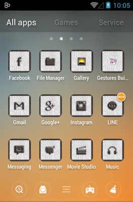 CUERO android theme application menu