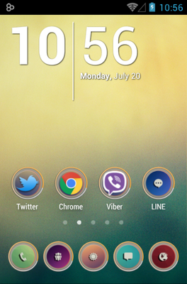 android theme 'MINIMAL COLOR'