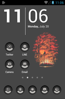android theme 'MINIMAL GRAY'