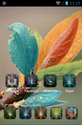 LUMEN android theme home screen