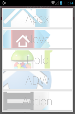 LUMEN android theme launcher menu