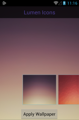 LUMEN android theme wallpaper