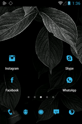 Tiny ICS android theme home screen