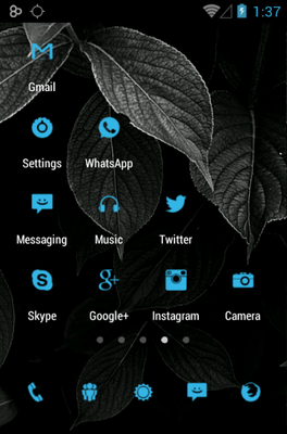 Tiny ICS android theme application menu