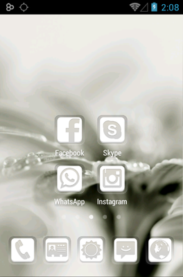 Dainty android theme home screen