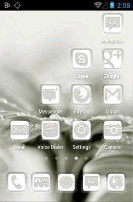 Dainty android theme application menu