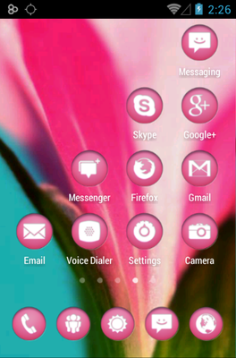 Circons Pink android theme application menu