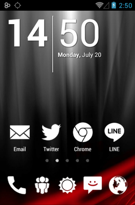 android theme 'Big White Minimal'