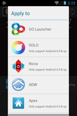 Adam android theme launcher menu