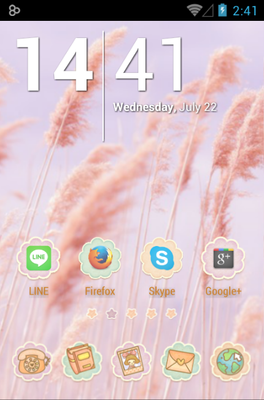android theme 'Ssonyeo of the sky'