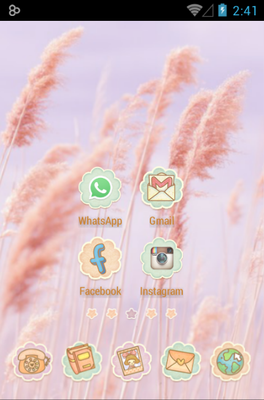 Ssonyeo of the sky android theme home screen