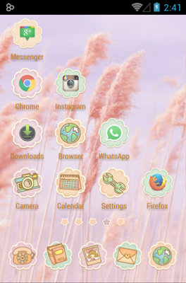 Ssonyeo of the sky android theme application menu